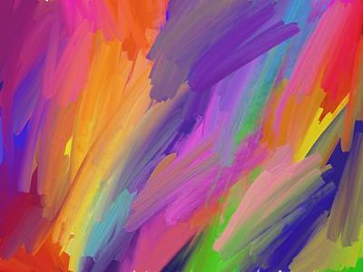 Painty Digital Art - Alive by Nancy Aikins