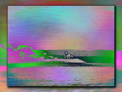 Digital Art - Alki Point Lighthouse 2 by Tim Allen