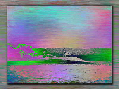 Digital Art - Alki Point Lighthouse 3 by Tim Allen