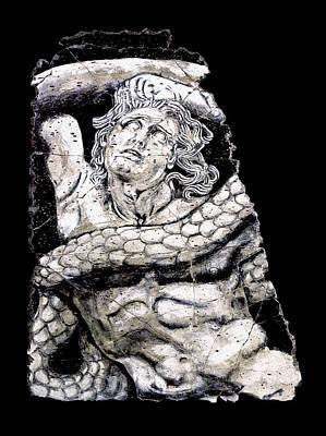 Ancient Roman Painting - Alkyoneus by Steve Bogdanoff