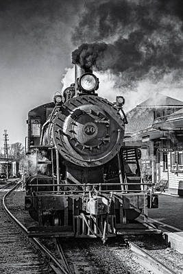 All Aboard Bw Art Print by Susan Candelario