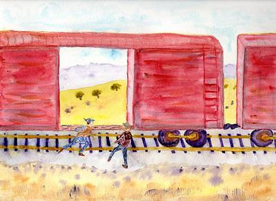 Painting - All Aboard by Jim Taylor