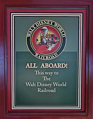 All Aboard Sign Art Print by Thomas Woolworth
