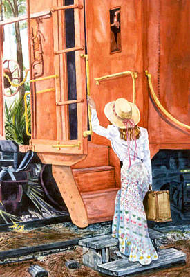 All Aboard  Art Print by Susan Duda