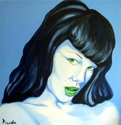 Painting - All About Betty by Holly Picano