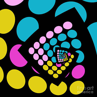 Abstract Forms Digital Art - All About Dots - 059 by Variance Collections