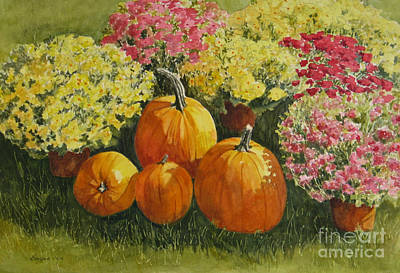 Painting - All About The Pumpkins by Vikki Bouffard