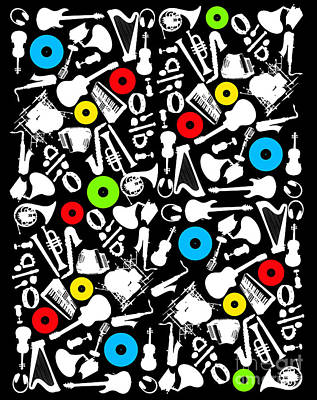 All Abut Music  Art Print by Mark Ashkenazi