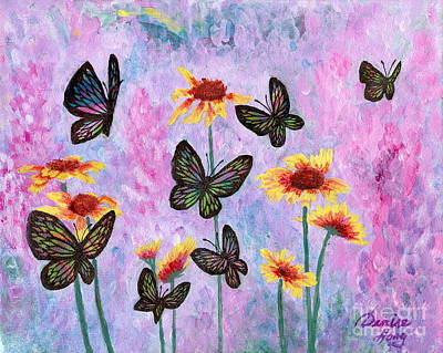 Painting - All Aflutter by Denise Hoag