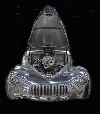 Photograph - All Aluminum Custom Car by Ron Roberts