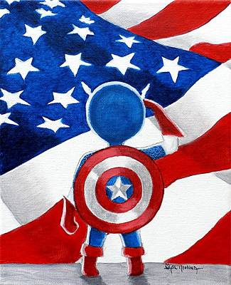 All American Boy Art Print by Al  Molina