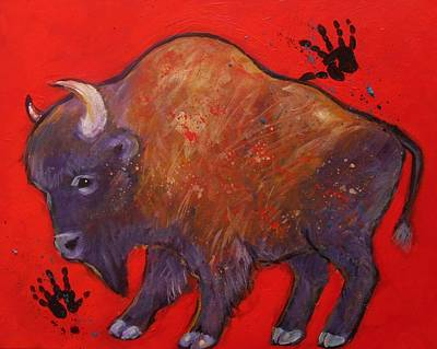 Painting - All American Buffalo by Carol Suzanne Niebuhr