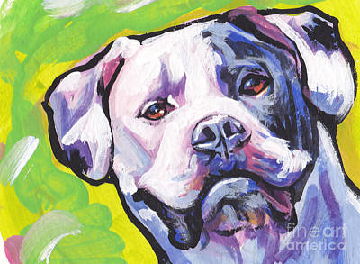 Dog Painting - All American Bully by Lea S