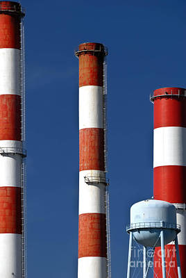 Stack Photograph - All American Industry Smokestacks by Amy Cicconi