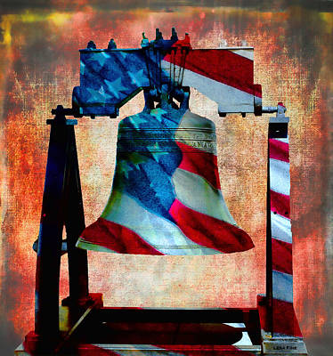 Mixed Media - Liberty Bell Art Smooth All American Series by Lesa Fine