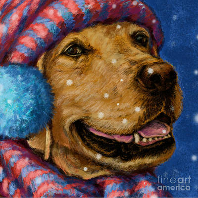 Smiling Mixed Media - All Bundled Up by Kathleen Harte Gilsenan