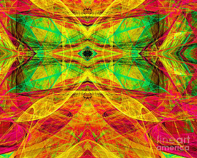 Fractal Geometry Digital Art - All Butterflies Live In Heaven 20140828 Horizontal by Wingsdomain Art and Photography