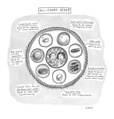 Religion Drawing - All-candy Seder by Roz Chast