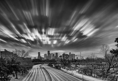 Photograph - All Clouds Lead To Downtown Houston - Houston Skyline Texas by Silvio Ligutti