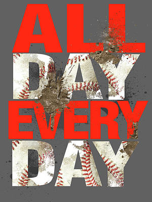 Softball Painting - All Day Every Day by Jim Baldwin
