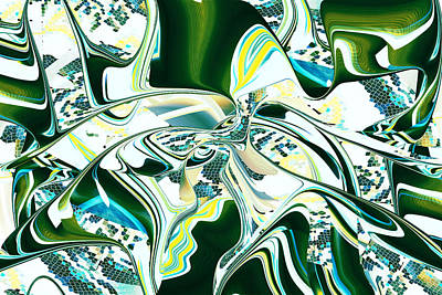 Digital Art - All Done Up In Green - Rd by rd Erickson