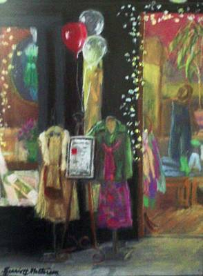 All Dressed Up For Artwalk Art Print by Harriett Masterson