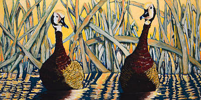 Duck Painting - All Ducked Up by Martin Zgodinski