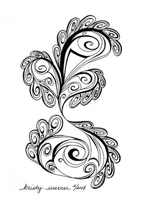 Flourish Drawing - All Frills by Kristy Werner