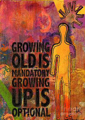 Mixed Media - All Grown Up by Angela L Walker