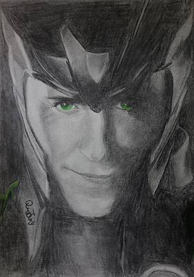 Thor Drawing Drawing - All Hail Loki by Jaedin Always