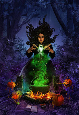 Phantasie Digital Art - All Hallows Eve by Cassiopeia Art