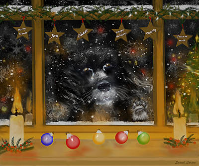 Homeless Pets Digital Art - All I Want For Christmas Is A Loving Home by Sannel Larson