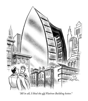 All In All, I Liked The Old Flatiron Building Art Print by Ed Fisher