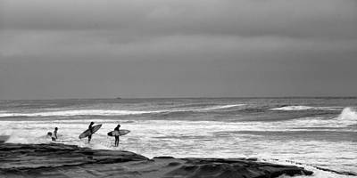 Surfing Photograph - All In Black And White by Peter Tellone