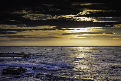 Photograph - All In Line At Sunset by Dave Hall