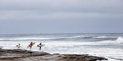 Surfing Photograph - All In by Peter Tellone