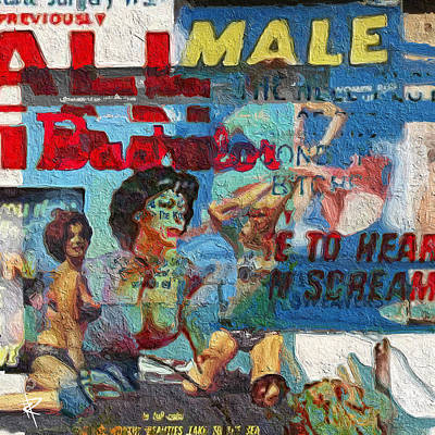Magazine Mixed Media - All Male Bachelors by Russell Pierce
