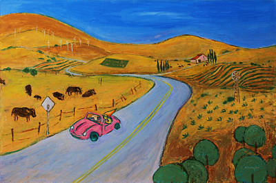 California Vineyard Painting - All My Loving I Will Send To You by Xueling Zou