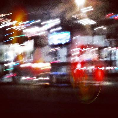 Abstract Landscape Photograph - All Night Diner. #bluronpurpose #sgn2 by Lydia Gottardi