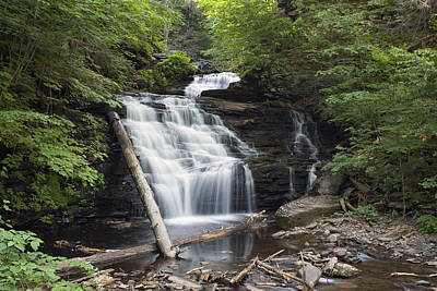 Photograph - All Of Mohican Falls In June by Gene Walls