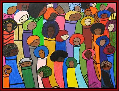 Painting - All Of Us by Clarissa Burton