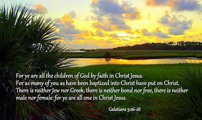 All One In Christ Jesus Art Print