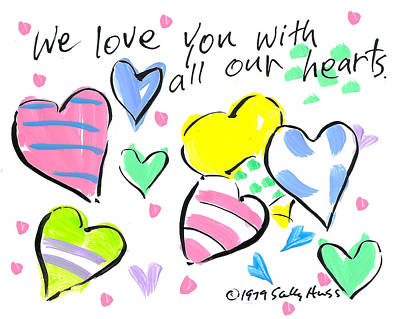Wall Art - Painting - All Our Hearts by Sally Huss