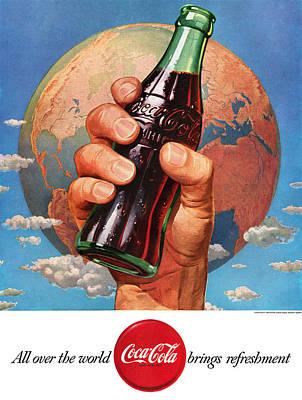 Tasty Digital Art - All Over The World Coca Cola Brings Refreshment by Georgia Fowler