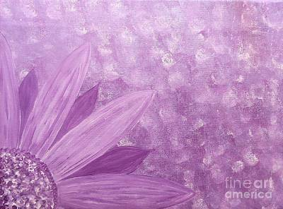 All Purple Flower Art Print