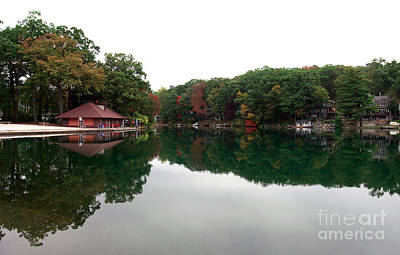 Photograph - All Quiet On The Lake by John Rizzuto