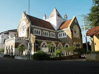 Church Street Photograph - All Saints Church, Church Street, Galle by Panoramic Images