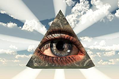 Christian Art Painting - All Seeing Eye by Christian Art