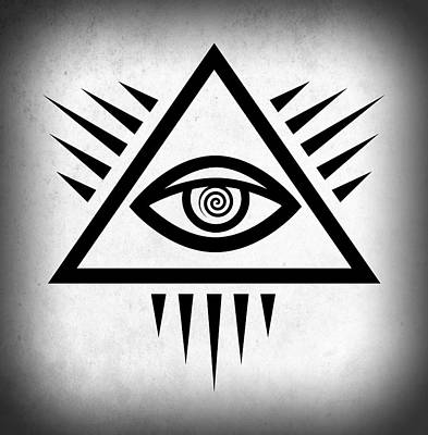Ancient Symbols Digital Art - All Seeing Eye by Daniel Hagerman
