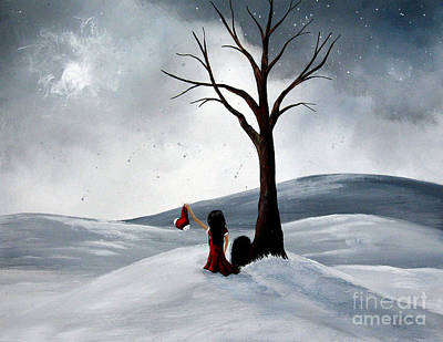 Crying Painting - All She Wants For Christmas By Shawna Erback by Shawna Erback
